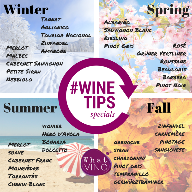 Varieties for Each Season in What VINO Wine Tips