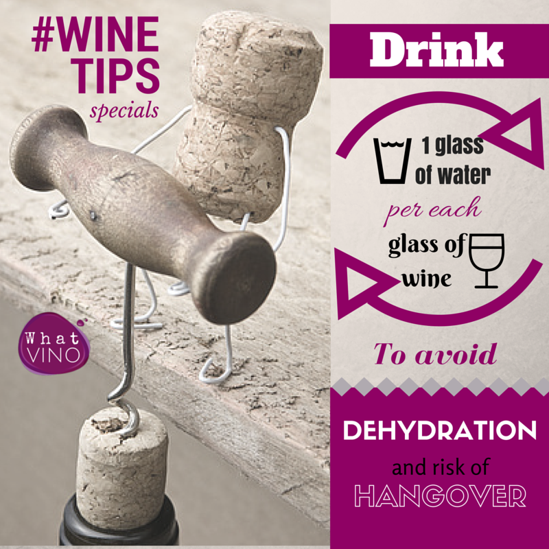Dehydration and Hangover in What VINO Wine Tips