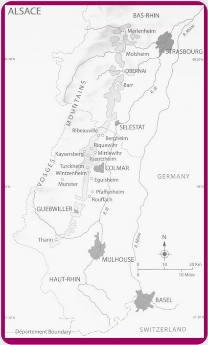 Alsace wine region detailed map in What VINO Wine Regions